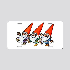 THREE GNOMES DANCING Aluminum License Plate