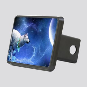 Fantasy Wolf Rectangular Hitch Cover