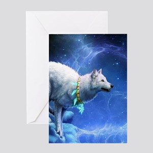 Fantasy Wolf Greeting Cards