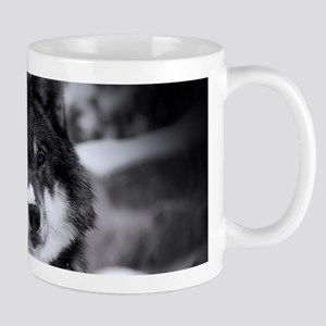 Grey Wolf In Snow Mugs