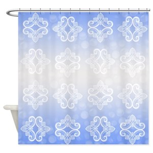 Icy Blue Shower Curtains