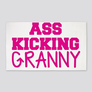 ASS KICKING granny Area Rug