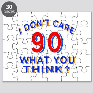 I Don't Care 90 What You Think? Puzzle