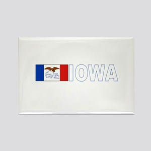 Iowa Rectangle Magnet