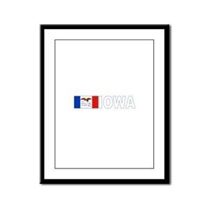 Iowa Framed Panel Print