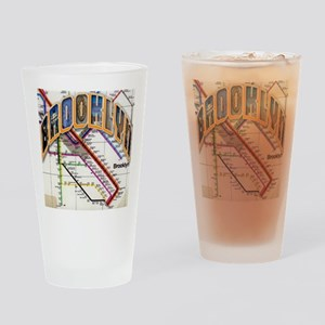 brookly logo Drinking Glass