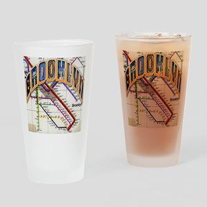 brookly logo Drinking Glass