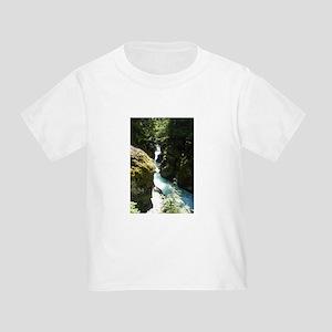 Glacier Waterfall Toddler T-Shirt