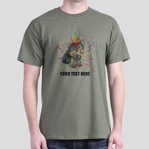 Custom Yorkie Birthday Dark T-Shirt