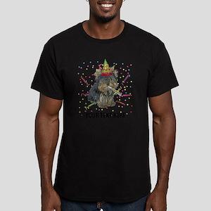 Custom Yorkie Birthday Men's Fitted T-Shirt (dark)