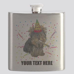 Custom Yorkie Birthday Flask