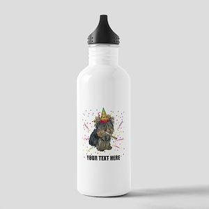 Custom Yorkie Birthday Stainless Water Bottle 1.0L