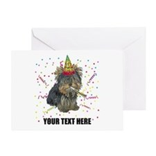 Custom Yorkie Birthday Greeting Card