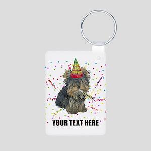 Custom Yorkie Birthday Aluminum Photo Keychain