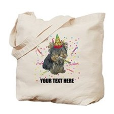 Custom Yorkie Birthday Tote Bag