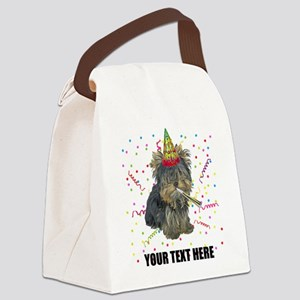 Custom Yorkie Birthday Canvas Lunch Bag