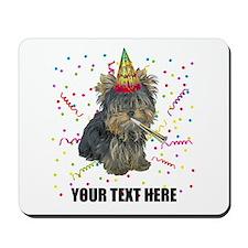 Custom Yorkie Birthday Mousepad