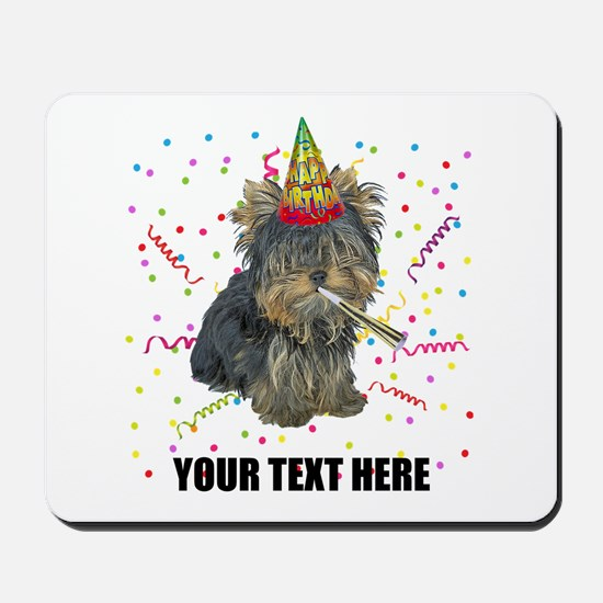 Custom Yorkie Birthday Mousepad