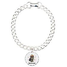 Custom Yorkie Birthday Charm Bracelet, One Charm