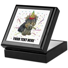 Custom Yorkie Birthday Keepsake Box