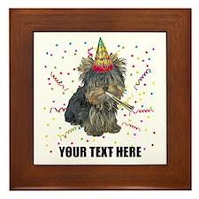 Custom Yorkie Birthday Framed Tile