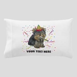 Custom Yorkie Birthday Pillow Case