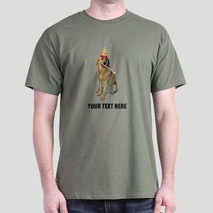 Custom Golden Retriever Birthday Dark T-Shirt