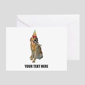 Custom Golden Retriever Birthday Greeting Card