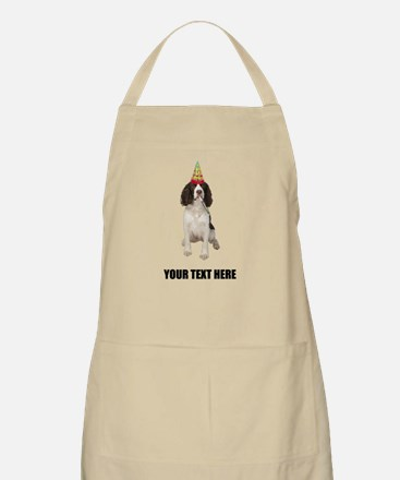 Custom Springer Spaniel Birthday Apron