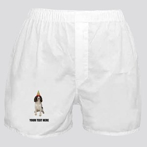 Custom Springer Spaniel Birthday Boxer Shorts