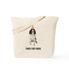 Custom Springer Spaniel Birthday Tote Bag