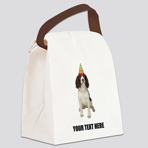 Custom Springer Spaniel Birthday Canvas Lunch Bag