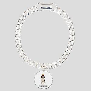 Custom Springer Spaniel Charm Bracelet, One Charm