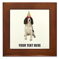 Custom Springer Spaniel Birthday Framed Tile