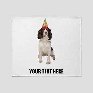 Custom Springer Spaniel Birthday Throw Blanket