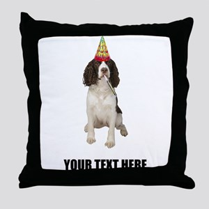 Custom Springer Spaniel Birthday Throw Pillow