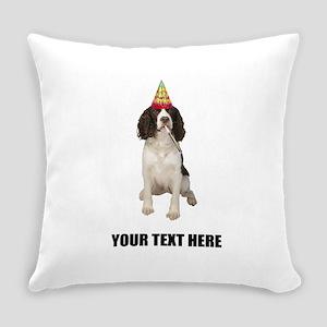 Custom Springer Spaniel Birthday Everyday Pillow