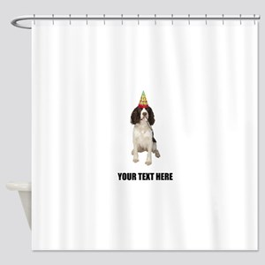Custom Springer Spaniel Birthday Shower Curtain