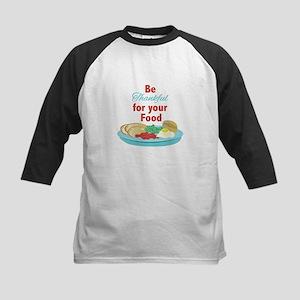 Thankful For Food Baseball Jersey