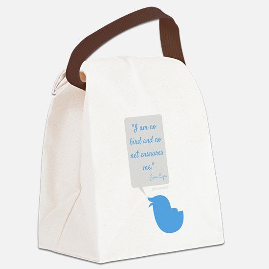 I'm No Bird Jane Eyre Tweet Canvas Lunch Bag
