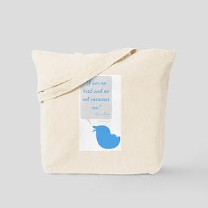 I'm No Bird Jane Eyre Tweet Tote Bag