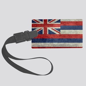 State Flag of Hawaii,  retro sty Large Luggage Tag