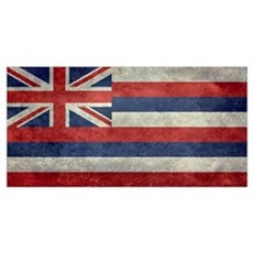 State Flag of Hawaii,  retro style  Poster