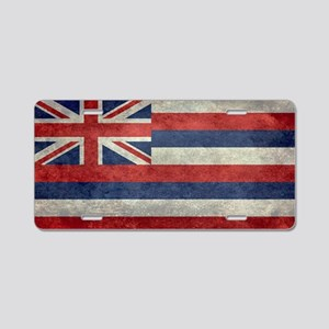 State Flag of Hawaii,  retr Aluminum License Plate