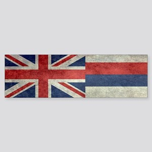 State Flag of Hawaii, retro style Bumper Sticker