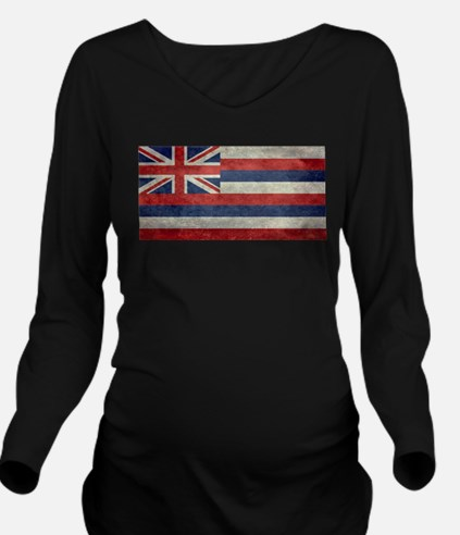 State Flag of Hawaii Long Sleeve Maternity T-Shirt