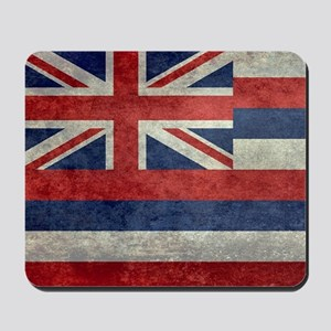 State Flag of Hawaii, retro style Mousepad