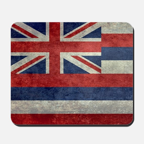 State Flag of Hawaii, retro style Mousepad