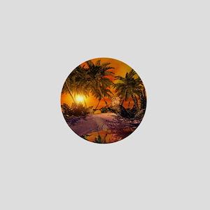 Sunset on the beach Mini Button