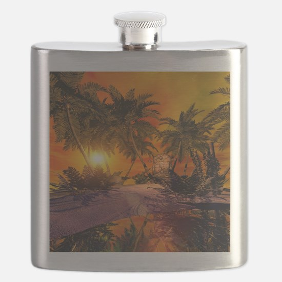 Sunset on the beach Flask